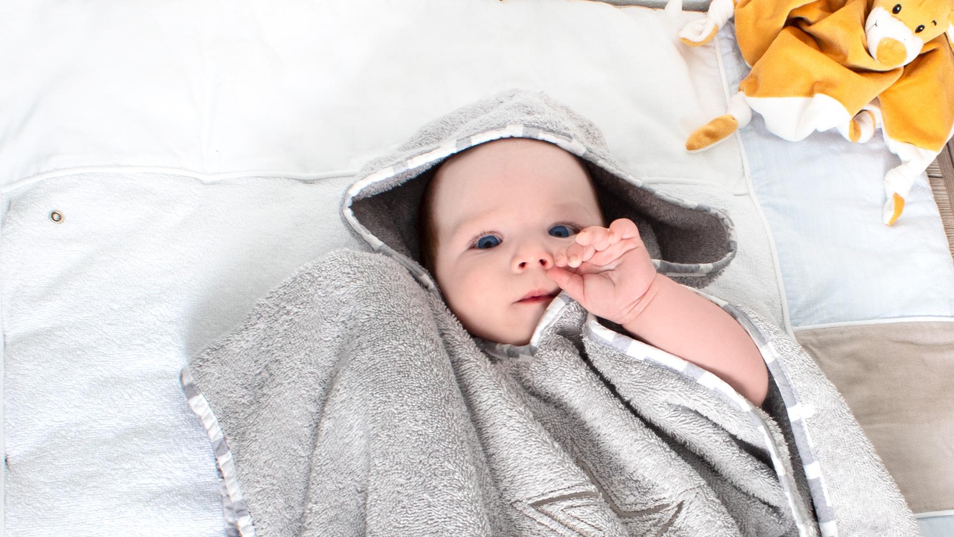 KOLIBRI Kapuzenhandtuch Babyartikel